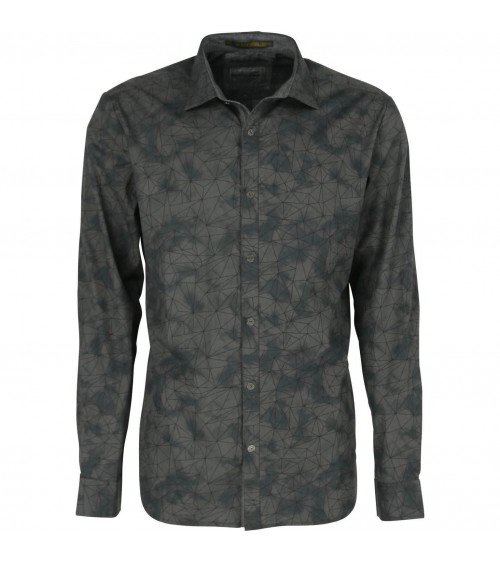Printed Stretch Shirt NO EXCESS DARK GREY