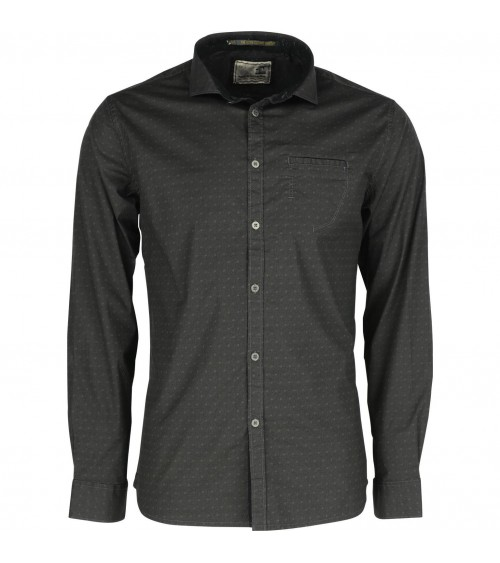 CAMISA NO EXCESS MANGA LARGA ESTAMPADA DARK GREY
