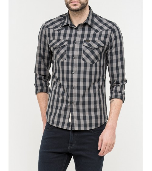CAMISA LEE MANGA LARGA CUADROS SLIM FIT