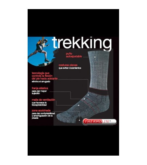 TREKKING WOOL socks with THERMOLITE and COOLMAX men sock PUNTO BLANCO