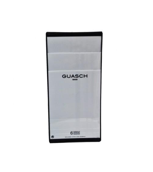 Caja 6 Pañuelos Hombre Guasch Blancos 100% Algodón