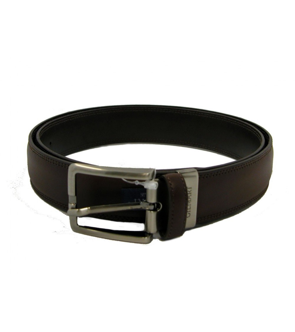 Mens Top Quality Leather Belt GILMART Brown or Black Classic Belt