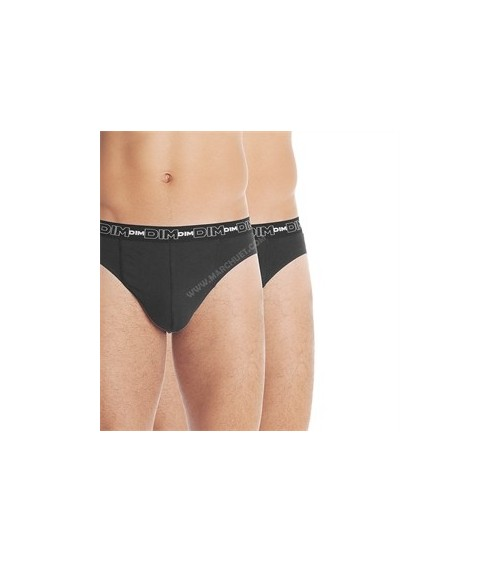 PACK 2 SLIPS DIM COTON STRETCH DRY & COOL (negro + blanco)