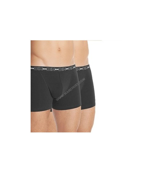 PACK 2 BOXERS  DIM COTON STRETCH DRY & COOL (negro + blanco)