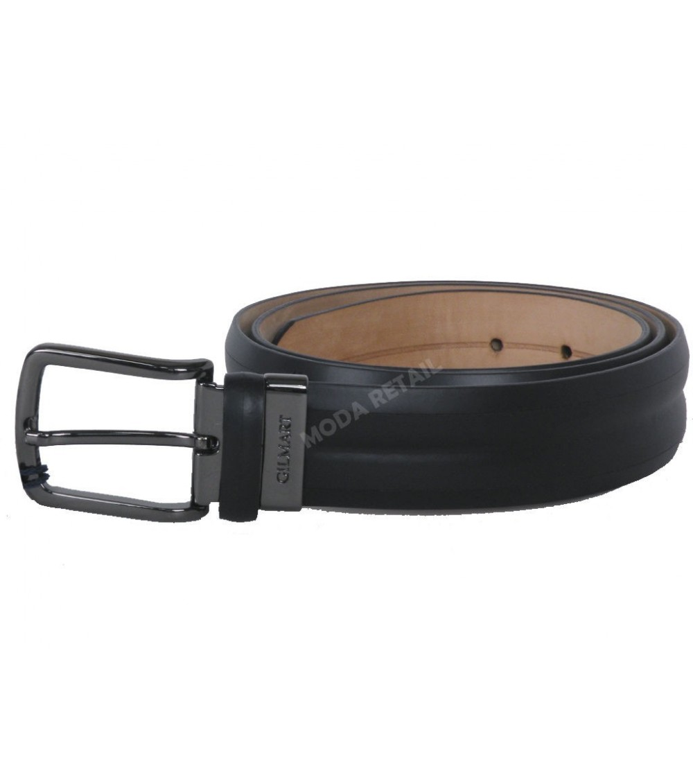 Mens Leather Belt modern GILMART Black Top Quality