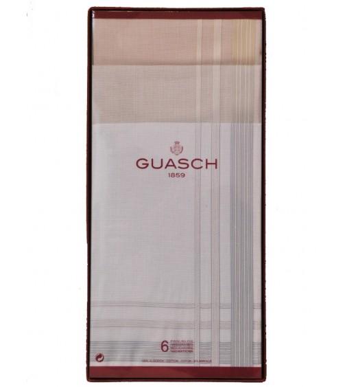 Pack 6 Mouchoir Multicolor GUASCH Homme 100% Coton