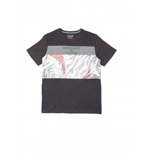 "Men's Long sleeve print tee LOSAN ""WATERWAYS"""