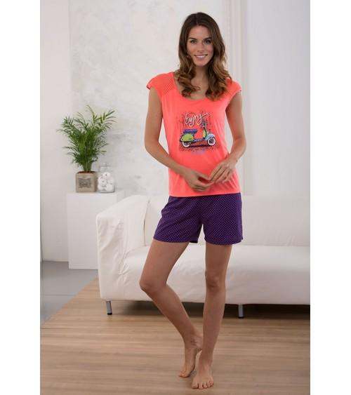 Pijama Verano Mujer Estampado Vespa Massana