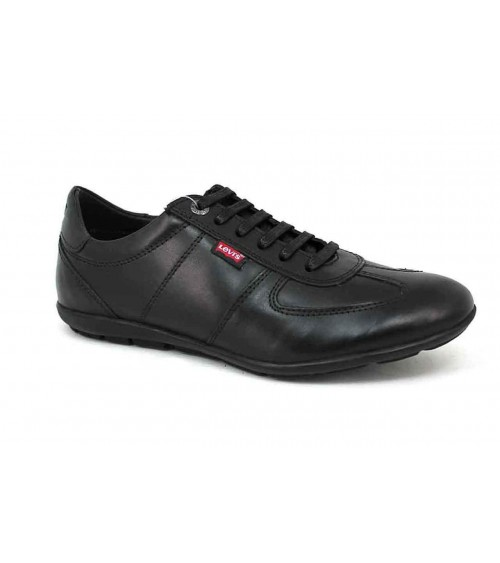 LEVI´S Men's Dress Shoes Leather Black Sneakers Levi Trainers