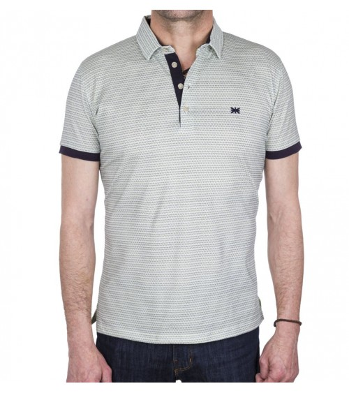 Men's short sleeve polo BROWN JURY
