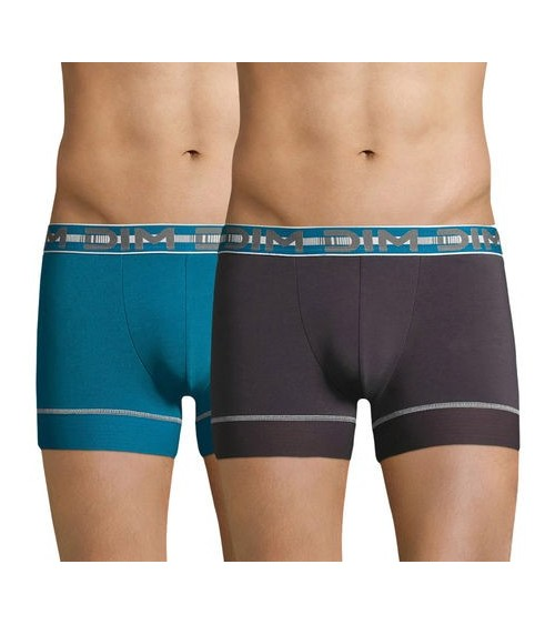 Pack x2 Boxers Hombre DIM STAY & FIT Calzoncillos con PowerGrip Technology