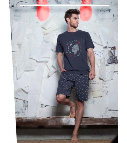 "Mens summer Pyjama Set ANTONIO MIRO ""The world"""