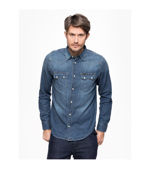 CHEMISE LEE RIDER DENIM SHIRT 100% coton