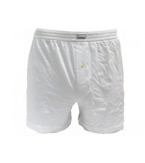 Men's Boxer Briefs ABANDERADO 100% Cotton White Open Fly Underwear