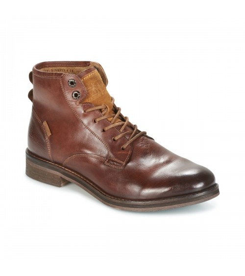 LEVI'S Mens Leather Brown Boots Balwin