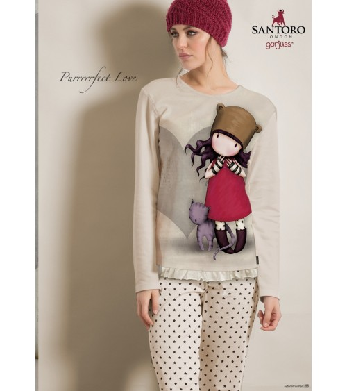 Womens Pyjamas SANTORO PURRRFECT LOVE