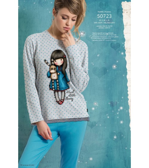 Womens Pyjamas SANTORO HUSH LITTLE BUNNY