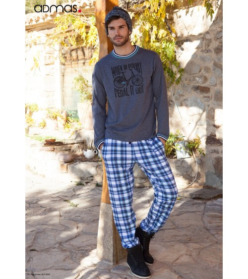 "Mens Winter Pyjamas ADMAS ""PEDAL IT OUT"""