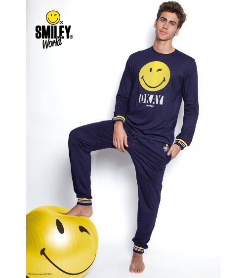 Mens Winter Pyjamas SMILE WORLD