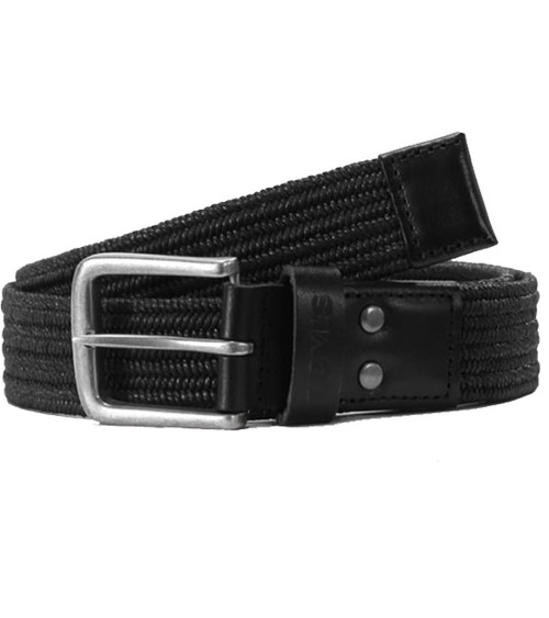 Levi's Elasticated Belt Black Woven Braided Stretch