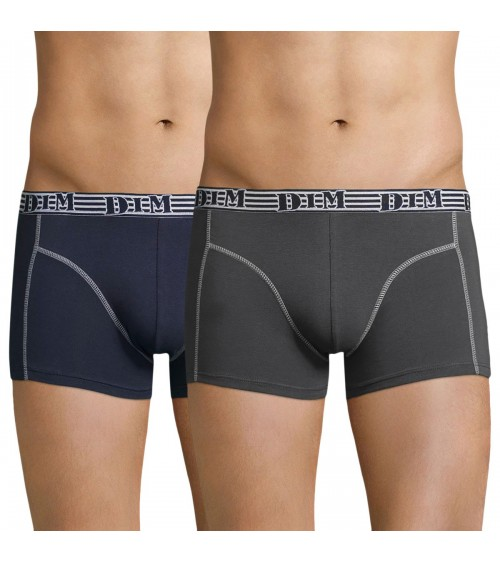 Men's 2 Pack Boxers Cotton Trunks DIM ECODIM
