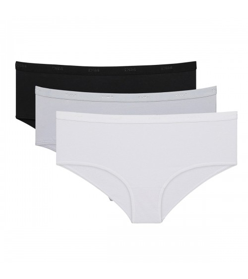 Ladies 3 Pack Briefs Boxsershots Underwear DIM Les Pockets ECODIM