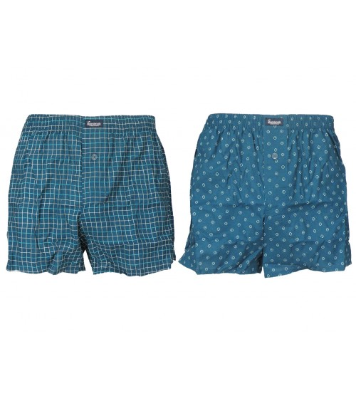Men's 2-Pack Open Fly Loose Boxers 100% Cotton Abanderado