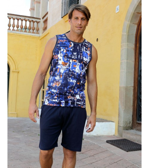 Summer Mens Pyjama Set MASSANA Nightwear Sleveless
