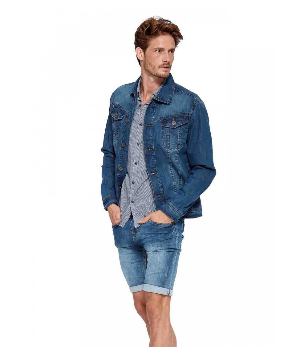 Faux-denim plush shorts with a metallic detail