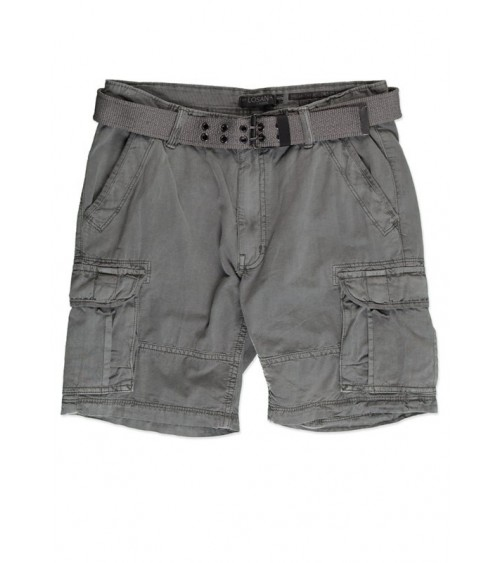 Twill shorts with multi-pocket construction