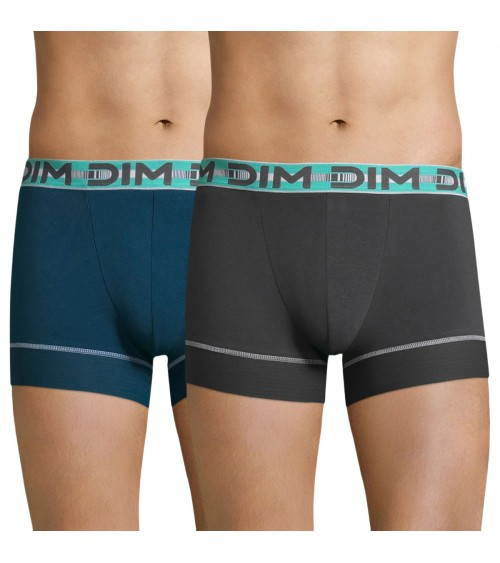 Pack 2 Calzoncillos Boxers DIM STAY & FIT Calzoncillos PowerGrip
