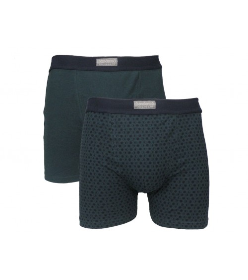 Men's 2-Pack Boxers OCEAN Quality Cotton Underwear Trunks
