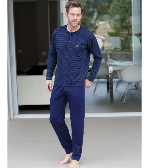 Ensembles de pyjamas en coton d'hiver pour hommes MASSANA