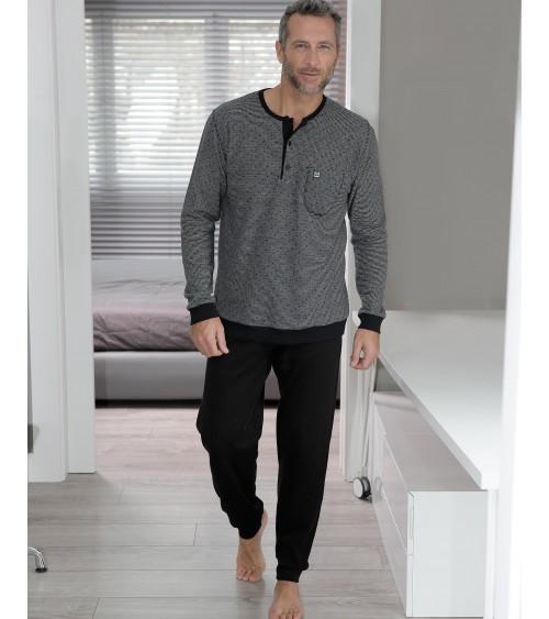MASSANA Ensembles de pyjamas coton hiver hommes