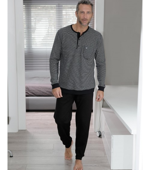 Mens pyjamas with cuffed bottoms by Massana