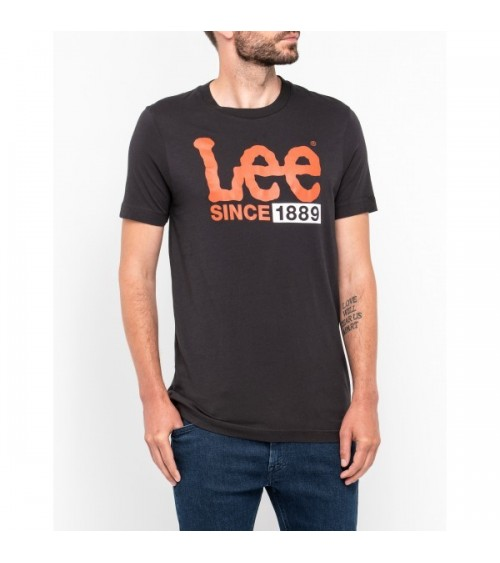 Camisete Lee logo 1889 Faded Black