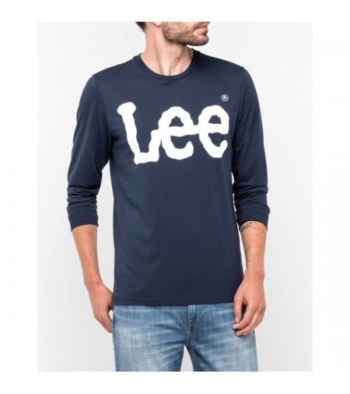 CAMISETA LEE LOGO MANGA LARGA