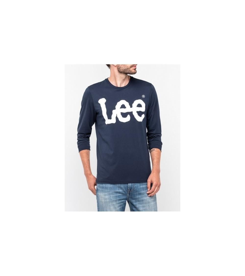 Lee Logo Tee Long sleeve Navy Drop