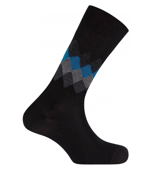 Short, cotton Punto Blanco socks - rhombus