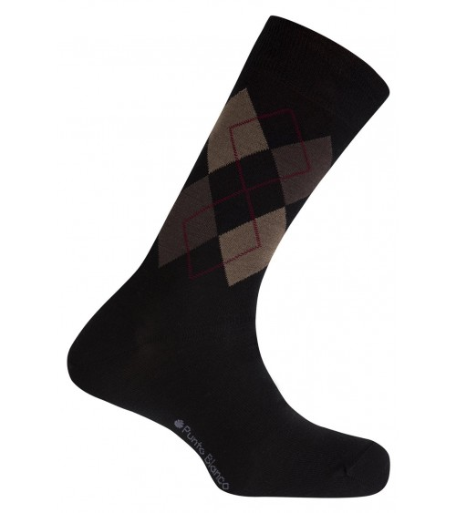 Punto Blanco wool socks - rhombus