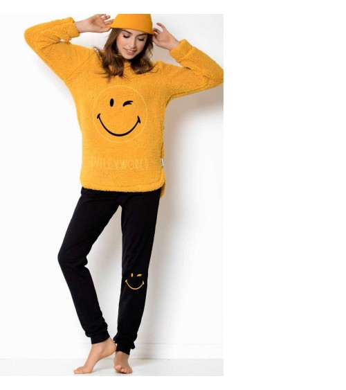 SMILE pajamas with sheepskin