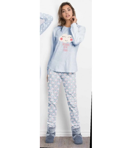 "Velvet Femmes Pyjamas Hiver ""DREAMER IN THE CLOUDS"""