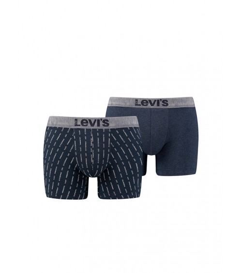 LEVI'S Men's 2 Pack Boxer Shorts Blue