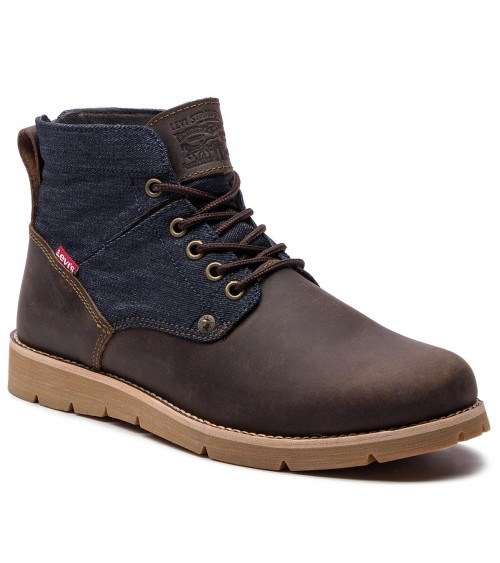 LEVI'S Mens Leather Brown Fashion Boots Footwear Jax