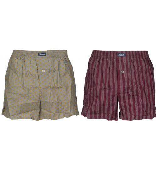 Men's 2-Pack Open Fly Loose Boxers 100% Cotton Abanderado