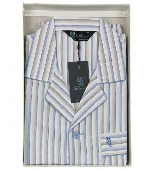 Mens Classic Pyjama Set cotton nightwear Nocturno