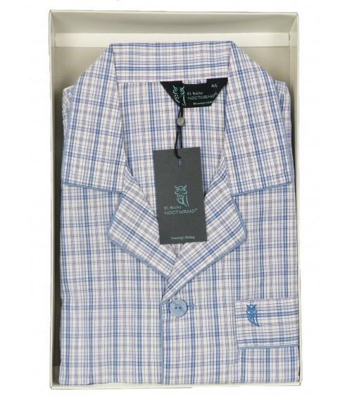 Pyjama classique cotton homme NOCTURNO haute qualité