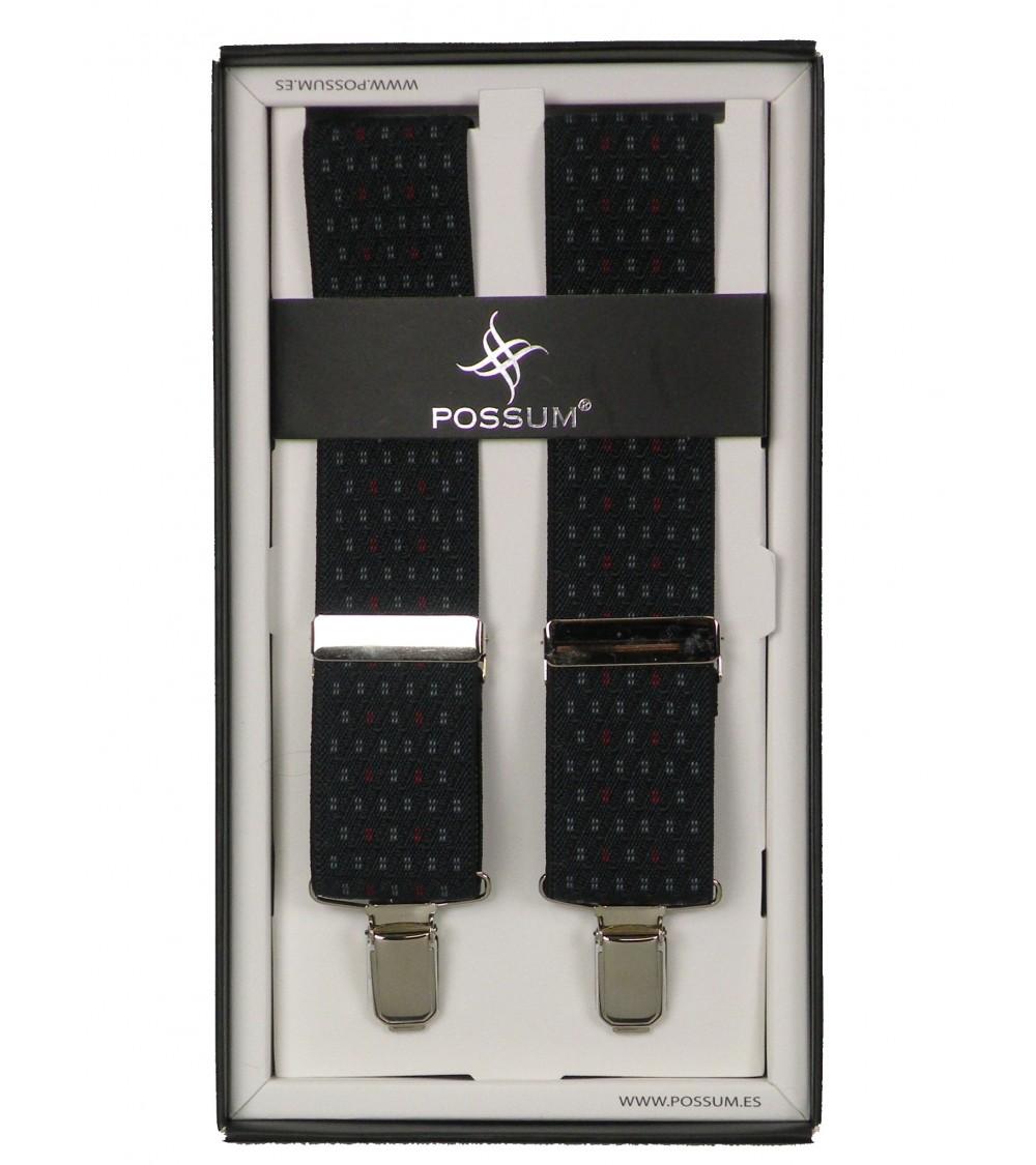 Men's Adjustable Suspenders Braces POSSUM Clip-On DIAMONDS