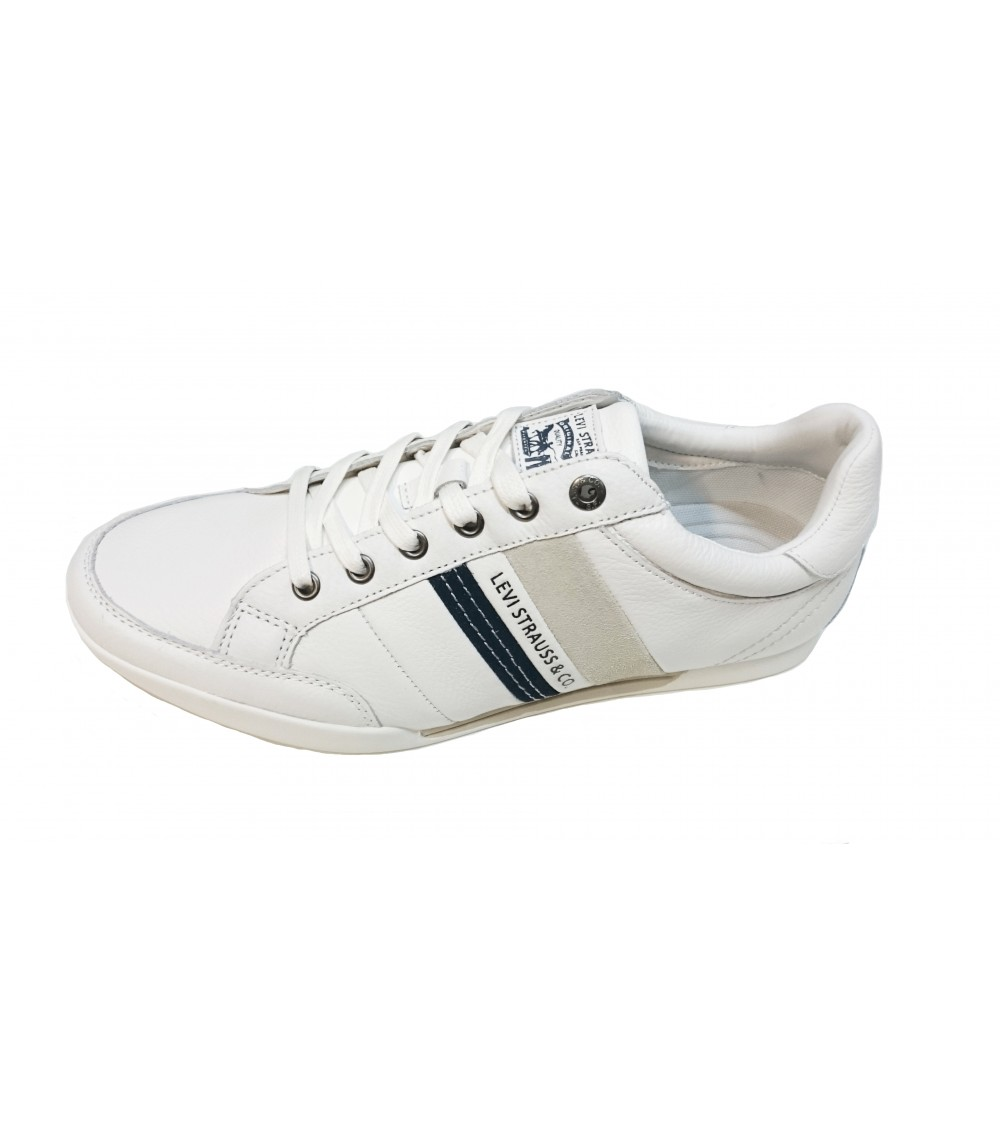 Chaussures Baskets En Levis Blanc Homme Turlock nwk8O0P