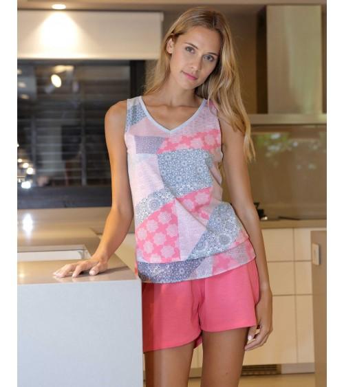 Pyjama d'été sans manches vêtements de nuit pour femmes Massana